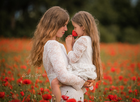 Pia und Lina - ein wundervolles Mohnshooting