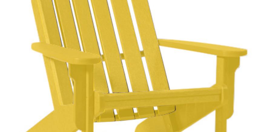 Shoreline Adirondack Chair: Lemon