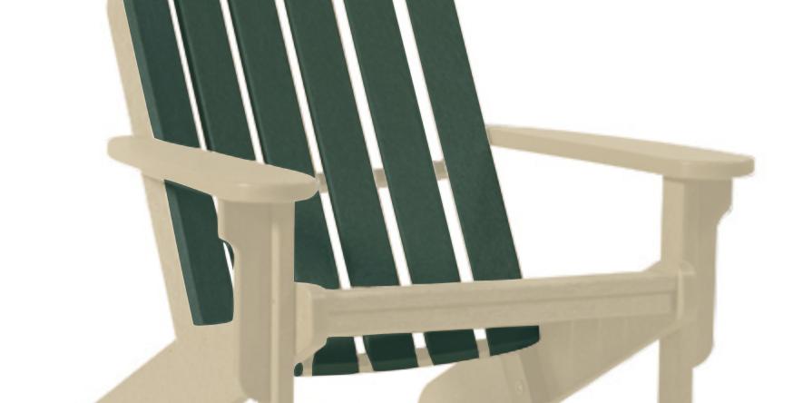 Shoreline Adirondack Chair: Sandstone/Forest Green