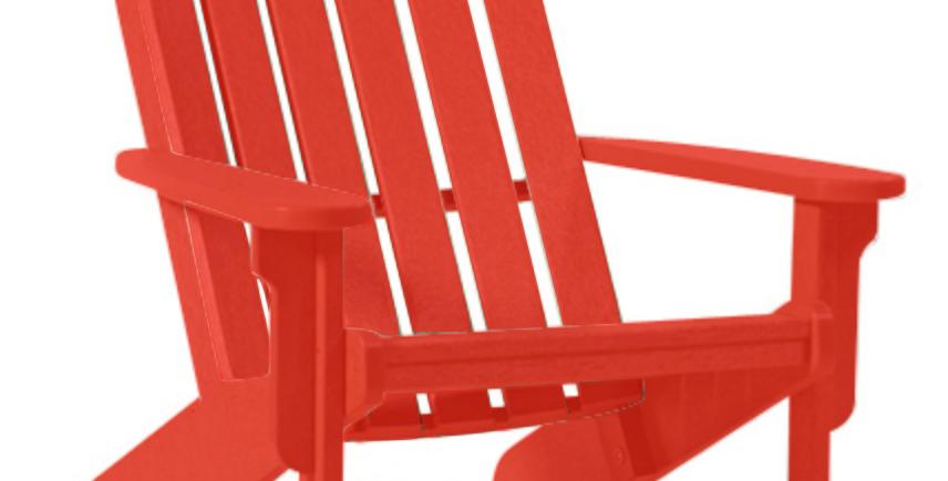 Shoreline Adirondack Chair: Berry Red