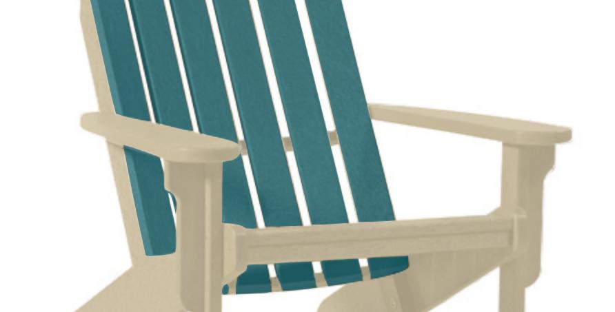 Shoreline Adirondack Chair: Sandstone/Lagoon