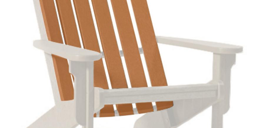 Shoreline Adirondack Chair: Sandstone/Cedar