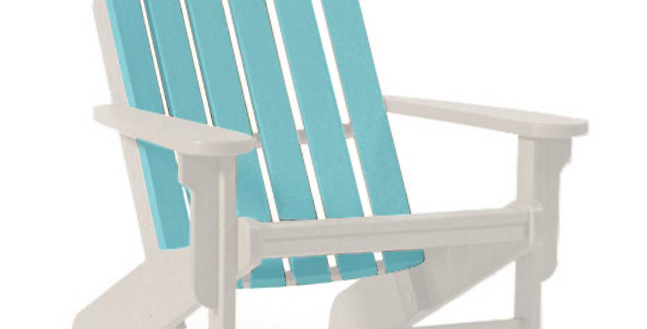 Shoreline Adirondack Chair: White/Seafoam