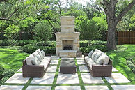white-patio-stones-home-design-ideas-and