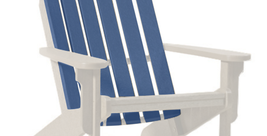 Shoreline Adirondack Chair: White/Colonial Blue