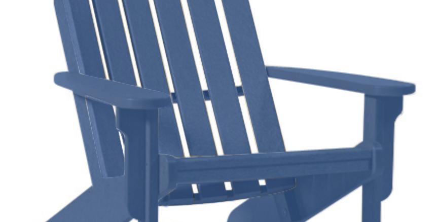 Shoreline Adirondack Chair: Colonial Blue