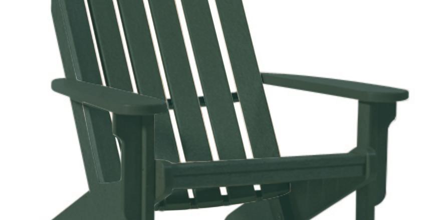 Shoreline Adirondack Chair: Forest Green