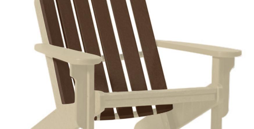 Shoreline Adirondack Chair: Sandstone/Mocha