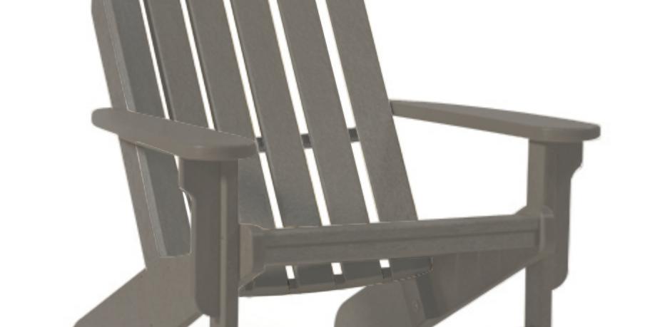 Shoreline Adirondack Chair: Grey