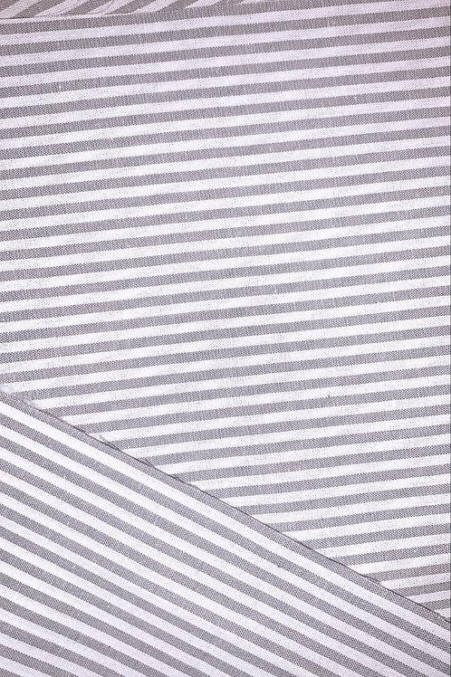 Grey & White Stripe Mask