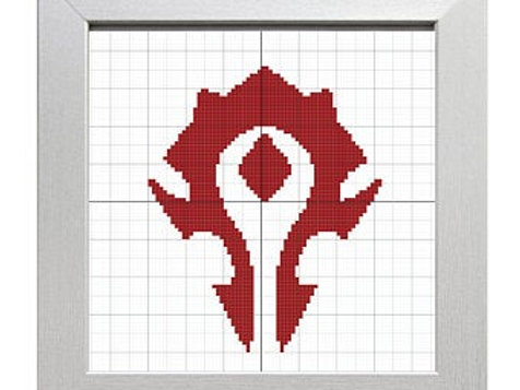 For the Horde! | World of Warcraft Cross-Stitch Pattern