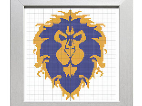 For the Alliance! | World of Warcraft Cross-Stitch Pattern