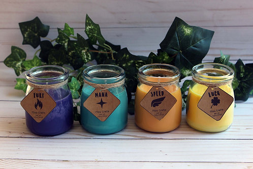 Potion Bottles   Video Game Inspired Candle 7oz