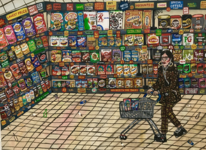 BOGOF, 102cm x 76cm, Acrylic on Canvas, 2020