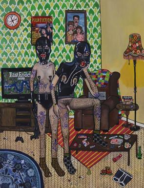 8pm, Acrylic on Canvas, 2020 - £200