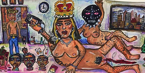 I'M A FUCKING QUEEN AND YOU CAN'T TELL ME OTHERWISE, Acrylic on Paper, 2019