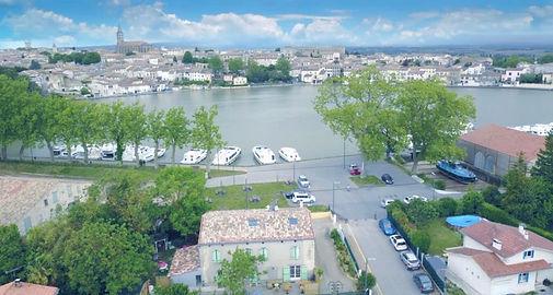 vue aérienne de la maison et du grand ba