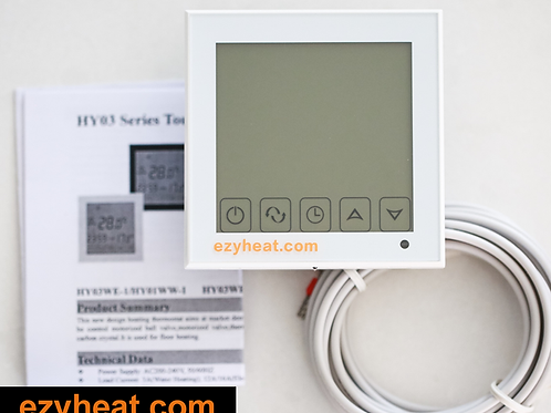 Ezyheat white thermostat