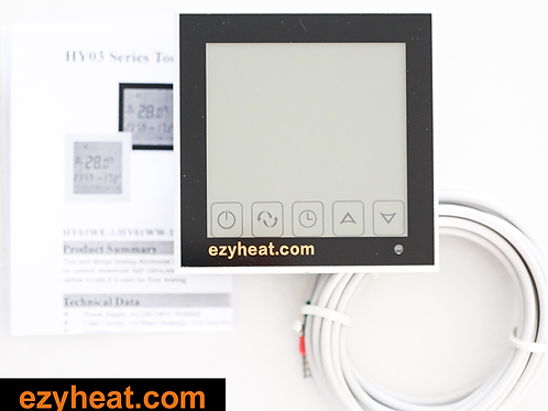 Ezyheat black thermostat