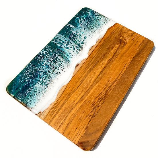 Turquoise Ocean Wood Board