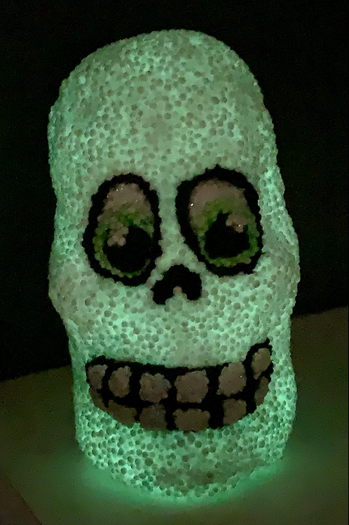Glow in the dark Foam Clay Skull