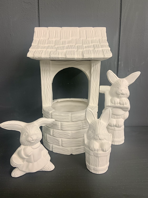 Bunny wishing well