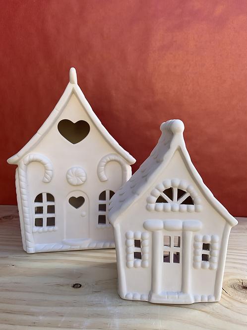 Medium Gingerbread house lantern
