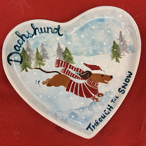 Dachshund Plate - Christmas project