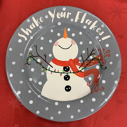 Shake your flakes plate - Christmas project