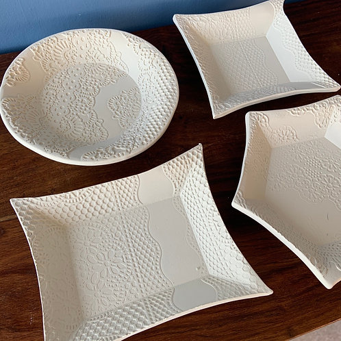 Circular Lace Trinket Dish