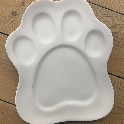 Paw Print Plate