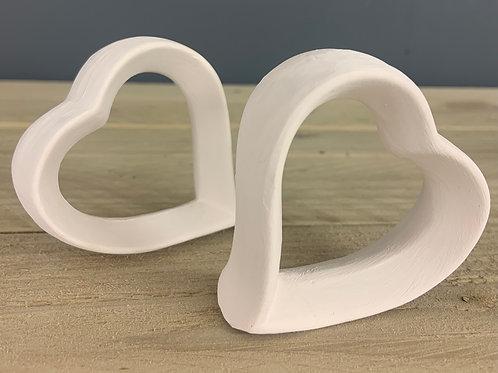 Pair of Heart Napkin Rings