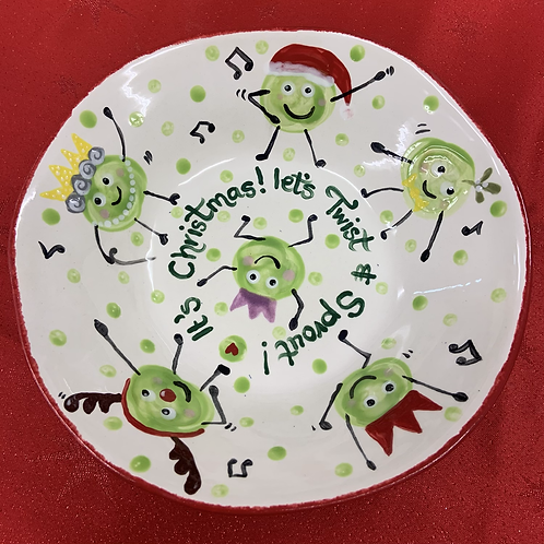 Twist & sprout bowl - Christmas project