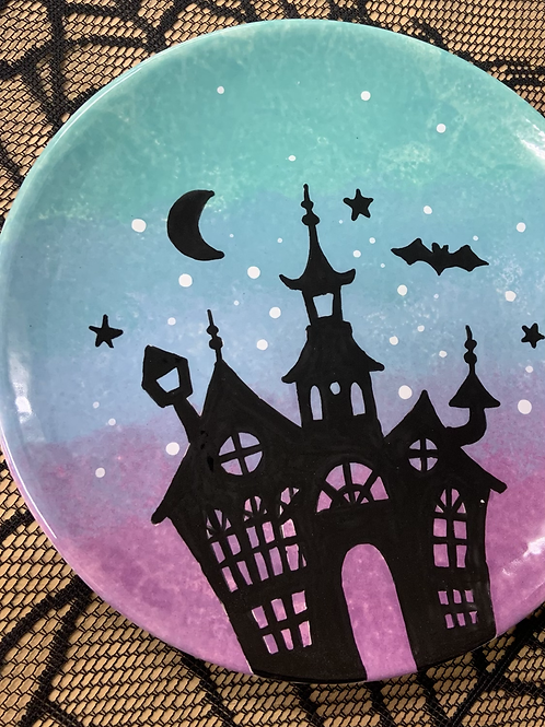 Ombre Haunted House Plate