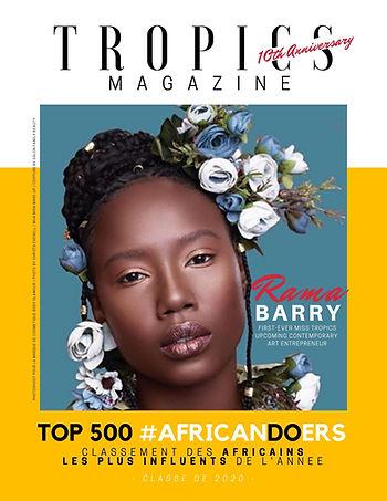 Rama Barry, mannequin et historienne de l'art, est dans le classement des africains les plus influents par African DOers