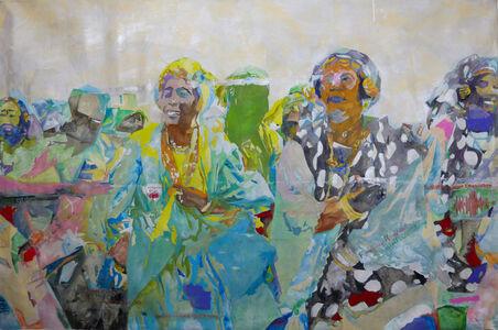 Manel Ndoye, une grande figure de l'art contemporain africain, a réalisé une peinture figuro-abstro