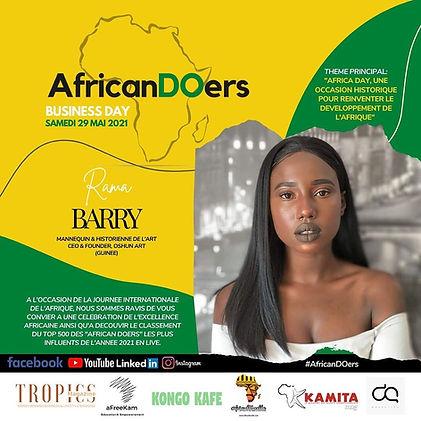 Rama Barry, mannequin et historienne de l'art, a participé à une table-ronde sur l'art contemporain africain.