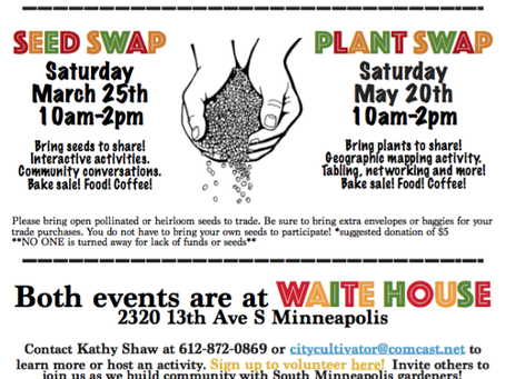 Seed Swap and Plant Swap