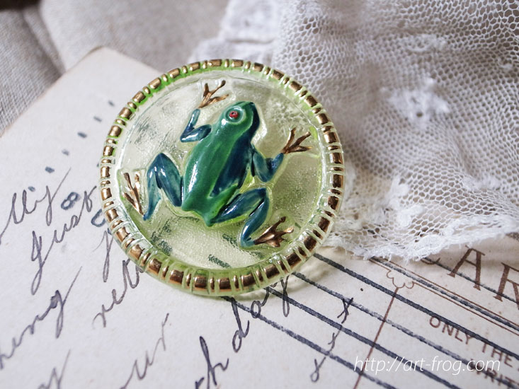 Frog Button from Czech