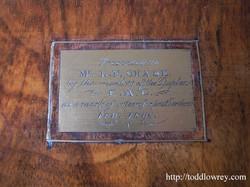 Antique Victorian Walnut Writing Slo