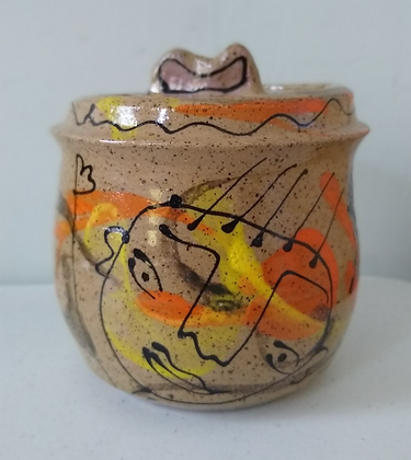 """Hi!"" ""Hello!"" Jar by Mayetta Steier"