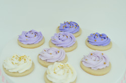 purple and gold cookies