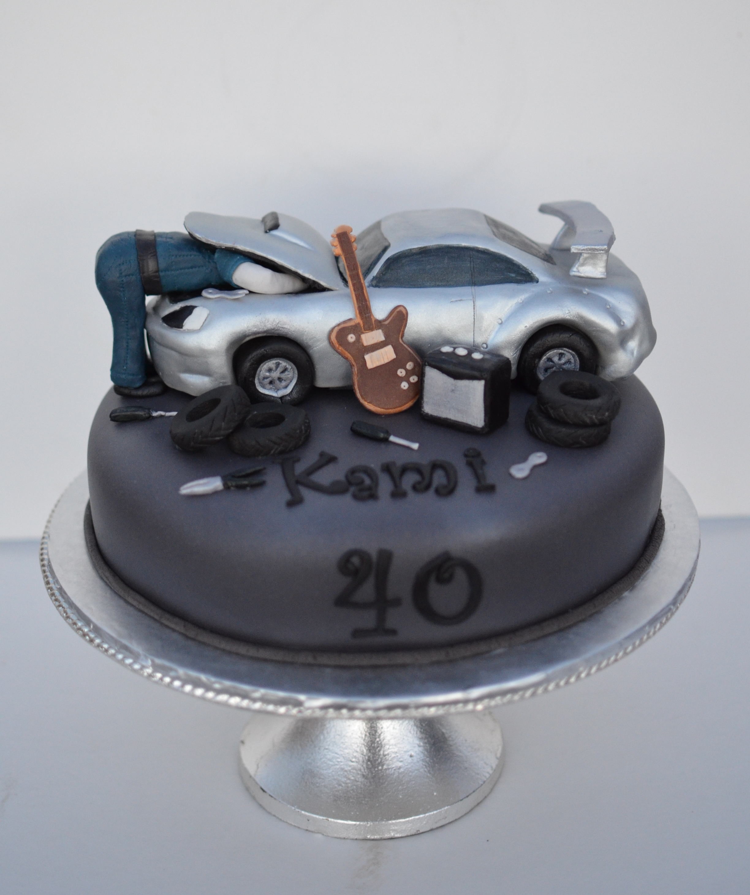 Car and hobby cake
