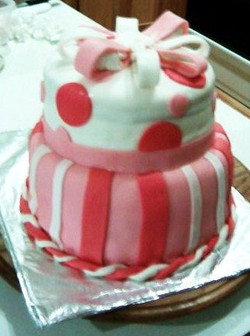 (my second cake)_This was made with NOT the right pans or support, BUT through trial and error I lea