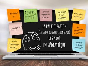 """[à distance pour la Bdp de l'Essonne] """"La participation des ados en bibliothèque"""""""