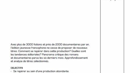 """Présentation """"Regards sur la production éditoriale pour la jeunesse"""" pour Bibliomedia Suisse"""