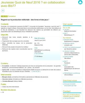 """Conférence """"Regards sur la production éditoriale"""" avec Bib77"""