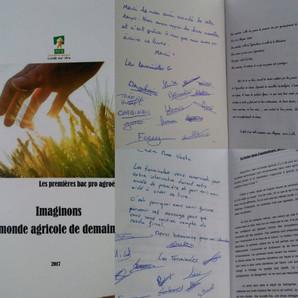 Un livre réalisé par les 1ère agroéquipement !