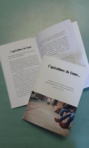 """Un livre sur """"l'agriculture du futur"""" imaginée par les lycéens de l'IREO de Condé-sur-Vire!"""