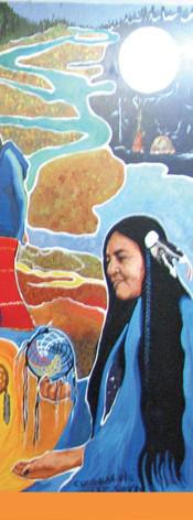 Murale participative communauté Lac Simon, Abitibi